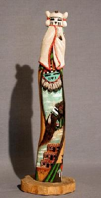 "Snow Maiden/Long Hair 10""tall carver Leroy Andrews"