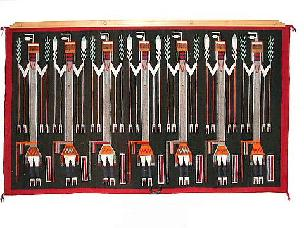 Native American Trading Company Navajo Ye'ii Tapestry, Blankets and Rugs to choose from.